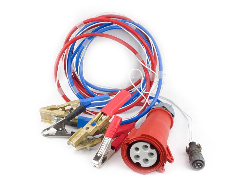 Провода для подключения к АБ с разъемами и зажимами типа «крокодил» длиной по 3 м