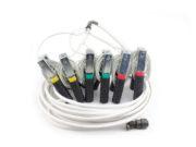 Зажимы типа «крокодил» для подключения к главным контактам выключателя с соединительным кабелем длиной 8 м
