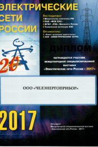 Диплом Электрические сети России 2017