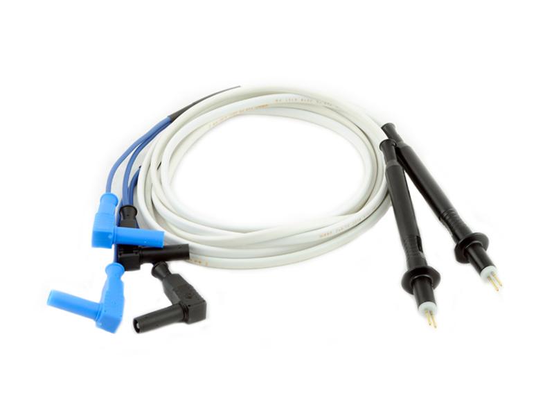 Измерительные провода длиной 1,5 м с двухконтактными штыревыми щупами