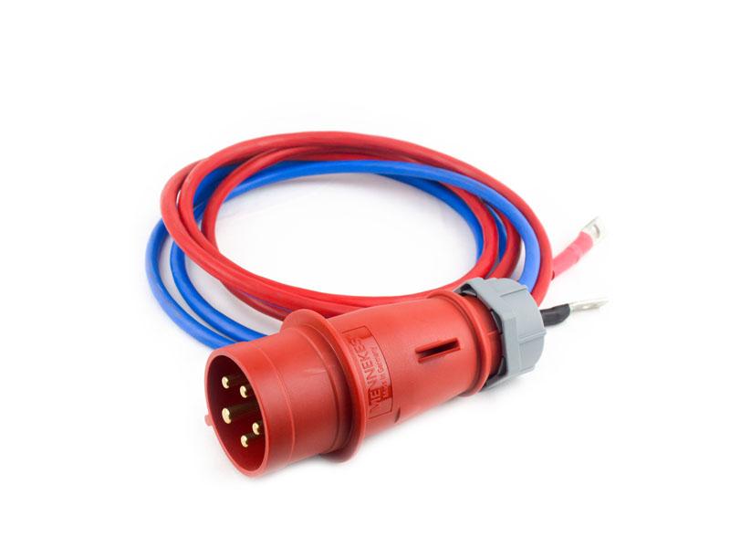 Двойной соединительный провод сечением 25 мм2 длиной 2 м