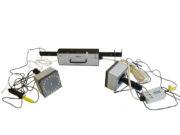 ИУС-4 с датчиками для определения УЭС углеграфитовых изделий различной формы и ниппелей