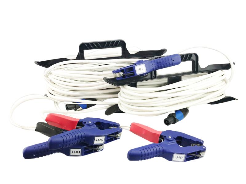 Двухканальный комплект измерительных проводов с зажимами типа крокодил с шириной схвата до 55 мм (опция)