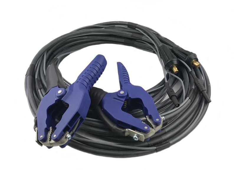 Измерительные провода длиной 5 м сечением 16 мм2 со щупом в виде зажима типа «крокодил»