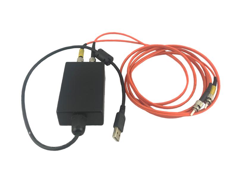 Оптический патчкорд типа ST-ST мультимод дуплекс в комплекте с переходником оптика-USB